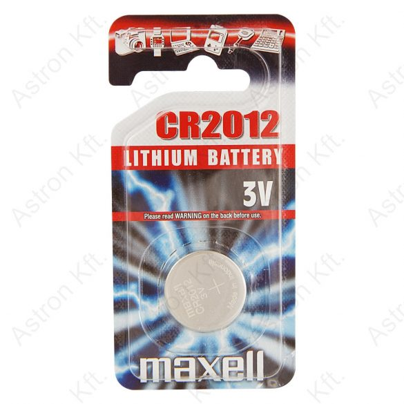 2012 Lithium gombelem, bl1 (Maxell)