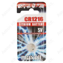 1216 lithium gombelem, bl1 (Maxell)
