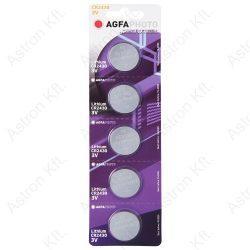 CR2430 lithium gombelem, 3V, bl5 (Agfa)