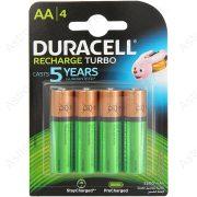 Duracell tölthető ceruza elem 2500mAh, bl4/db