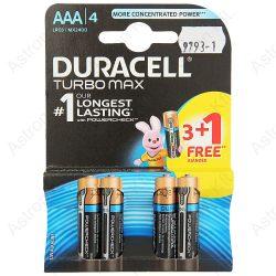 Duracell Turbo Max LR03 AAA 1, 5V elem, bl4/db