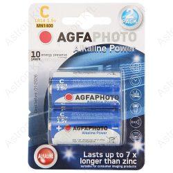 AgfaPhoto Alkáli baby elem, 1,5V B2/db